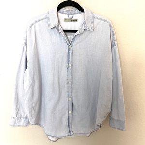 Topshop Moto Jean Button Down Shirt